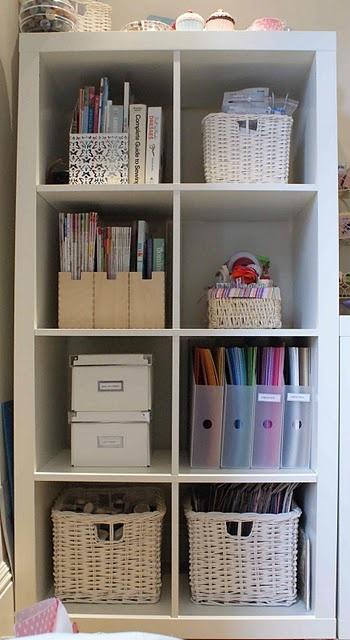 Neat and TidyExpedit Shelves, Expedit Ideas, White Shelf, Organic Ideas, Crafts Room, Bookshelf Organic, White Shelves, Tidy Organic, Offices Organic