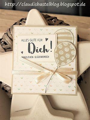 Ein Geburtstagskärtchen mit Luftballons und im Innenteil befindet sich ein Umschlag für z. B. ein GeldGeschenk - mehr auf meinem Blog: http://claudisbastelblog.blogspot.de