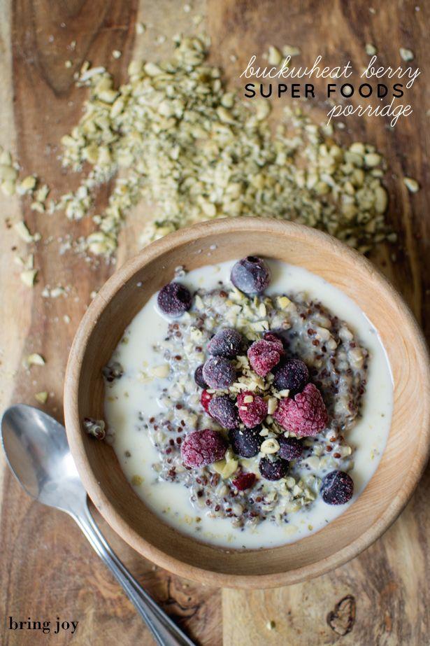 buckwheat berry superfoods porridge--combo of quinoa, buckwheat, chia & pumpkin seeds | vegan, grain-free, gluten-free