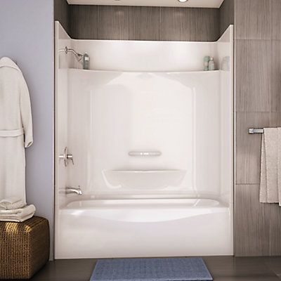 MAAX Essence 6030 4 Piece Tub Shower U2013 Left Hand Drain | The Home Depot