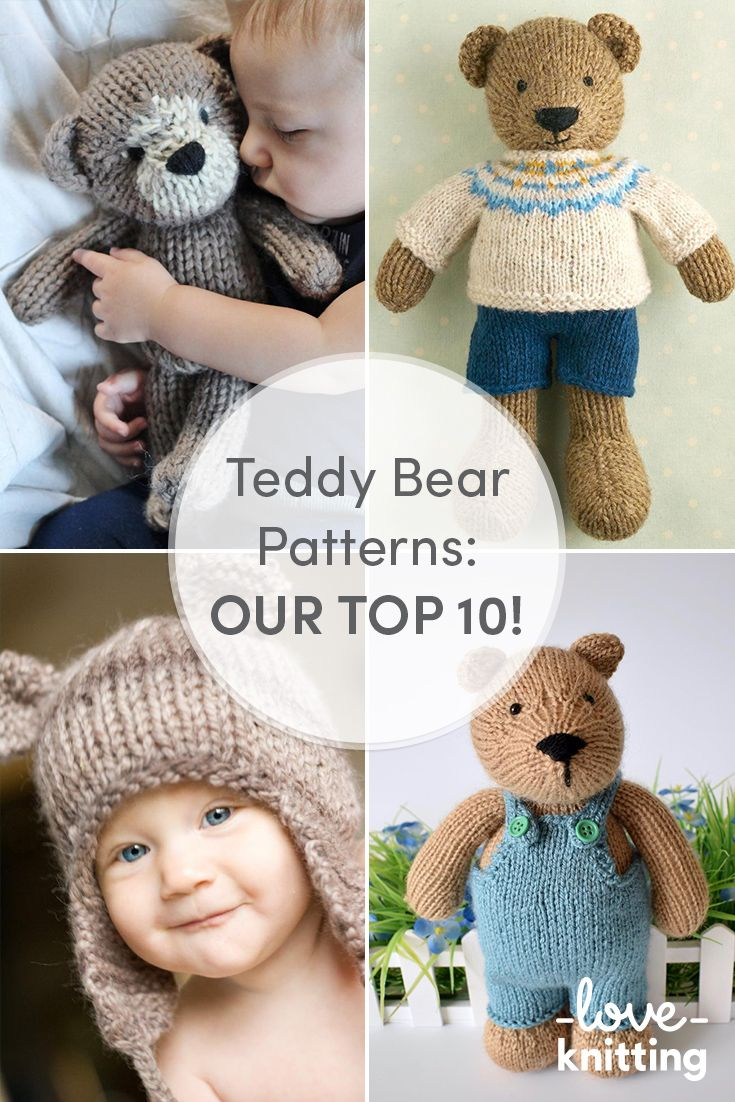 We have compiled a list of great Teddy Bear patterns (and accessories) for thelittle ones and even adult teddy lovers in your life! Find out more on the LoveKnitting blog.