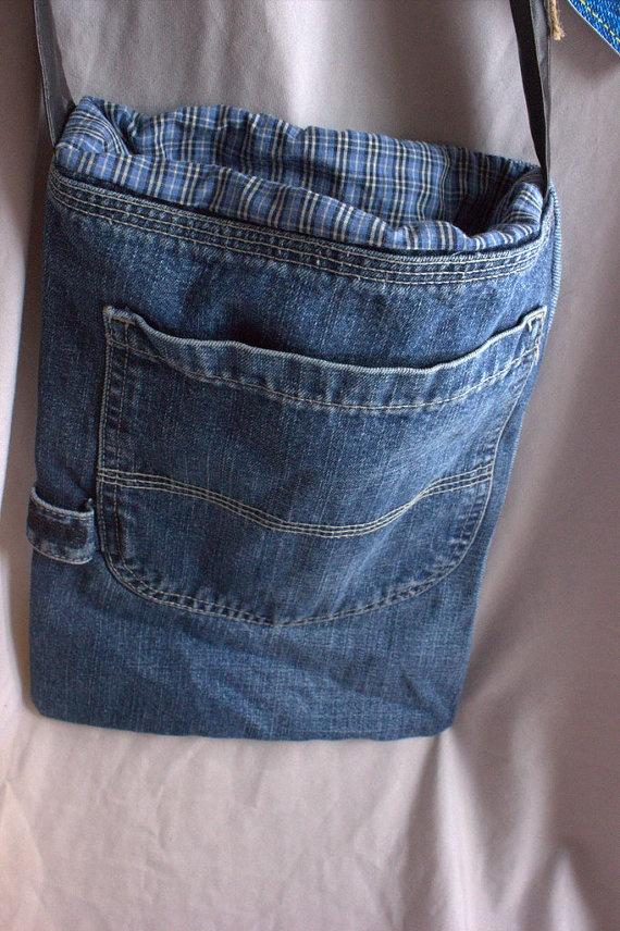 Recycled Denim Jeans Pocket Purse by EileenAndAlanna on Etsy, $8.50