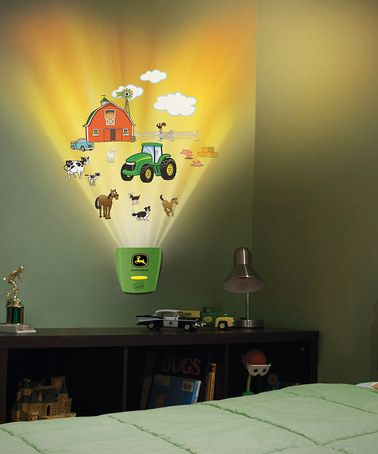 John Deere Farm Wild Walls Decal Set by Uncle Milton on #zulily today! The peel-and-stick decals easily affix to any smooth surface, and the FX activator triggers synchronized lights and sounds to bring the scene to life. $20 !!