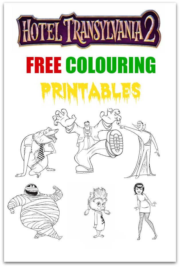 With the release of Hotel Transylvania 2 we have decided to provide you and your little Drac Pack wannabes with 6 free to use Hotel Transylvania 2 #Printables all in one place. Keeping the kids entertained with these #colouring #activity sheets will make them happy and hopefully keep you sane!