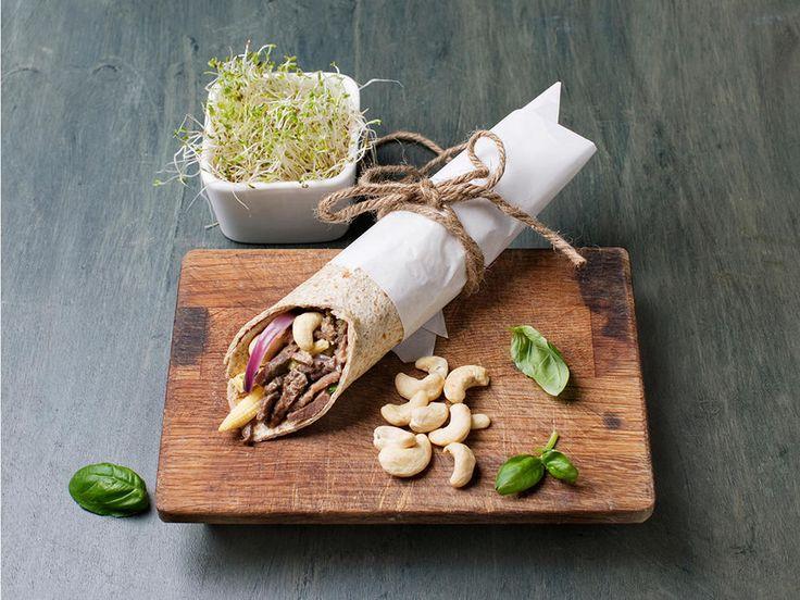 Fullkornswrap med reinskav og cashewnøtter - Sunn favorittrett til matboksen
