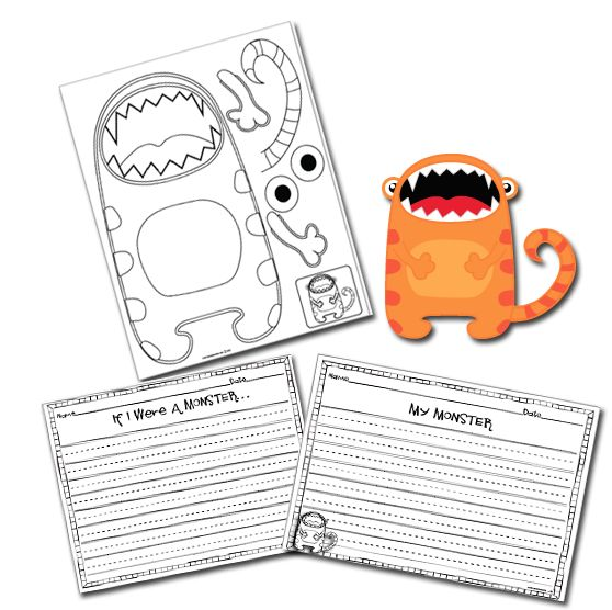 The Lesson Plan Diva: Monster Writing Craftivities
