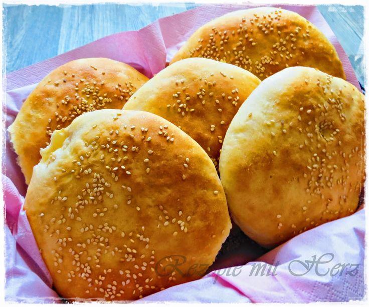 Rezepte mit Herz ♥: Hamburger-Brötchen / Burger Buns