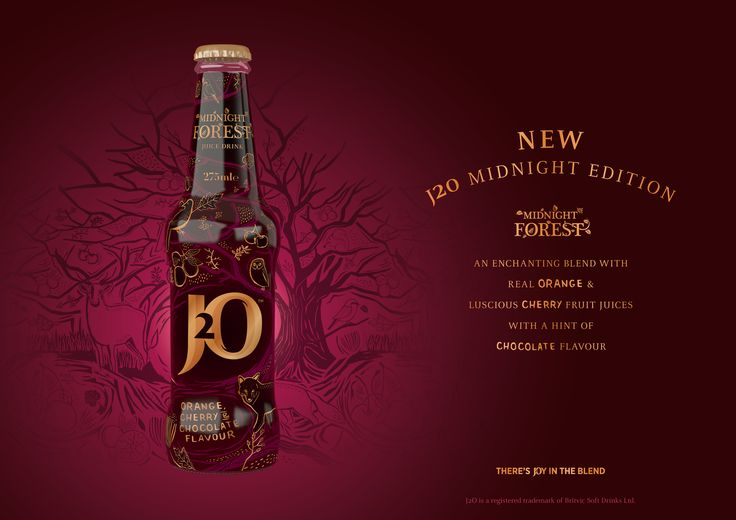 J2O Midnight Edition – Midnight Forest – Limited Edition Winter 2015 Juice Drink j2o Britvic