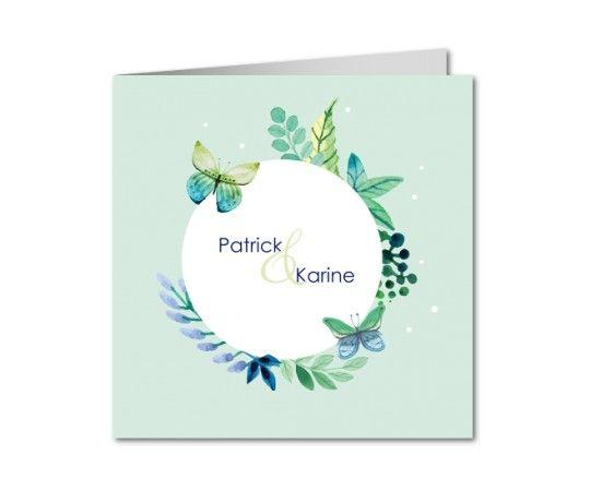 faire part mariage papillon and nature