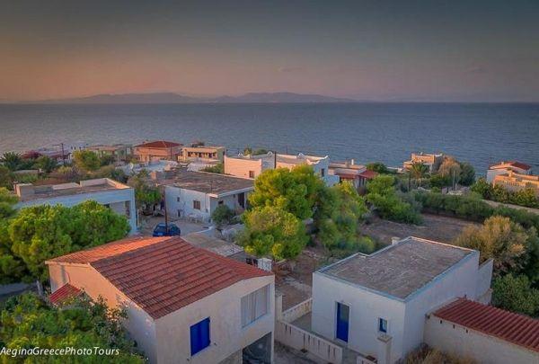 Sunset time in Vagia, Aegina