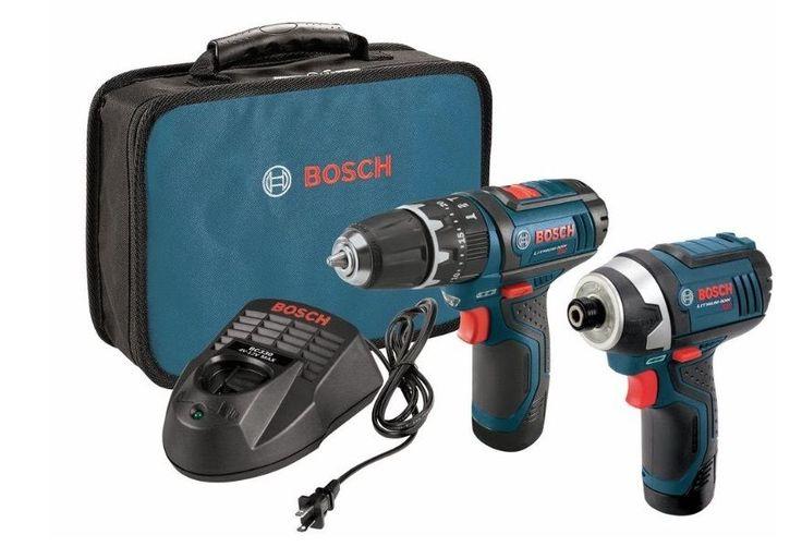 Bosch 12-Volt <b>Cordless</b> Drill/Driver + <b>Impact Driver</b> Combo Kit ...
