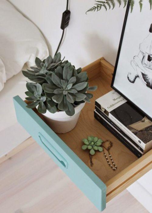 Table de chevet – 30 idées de table de nuit en récup