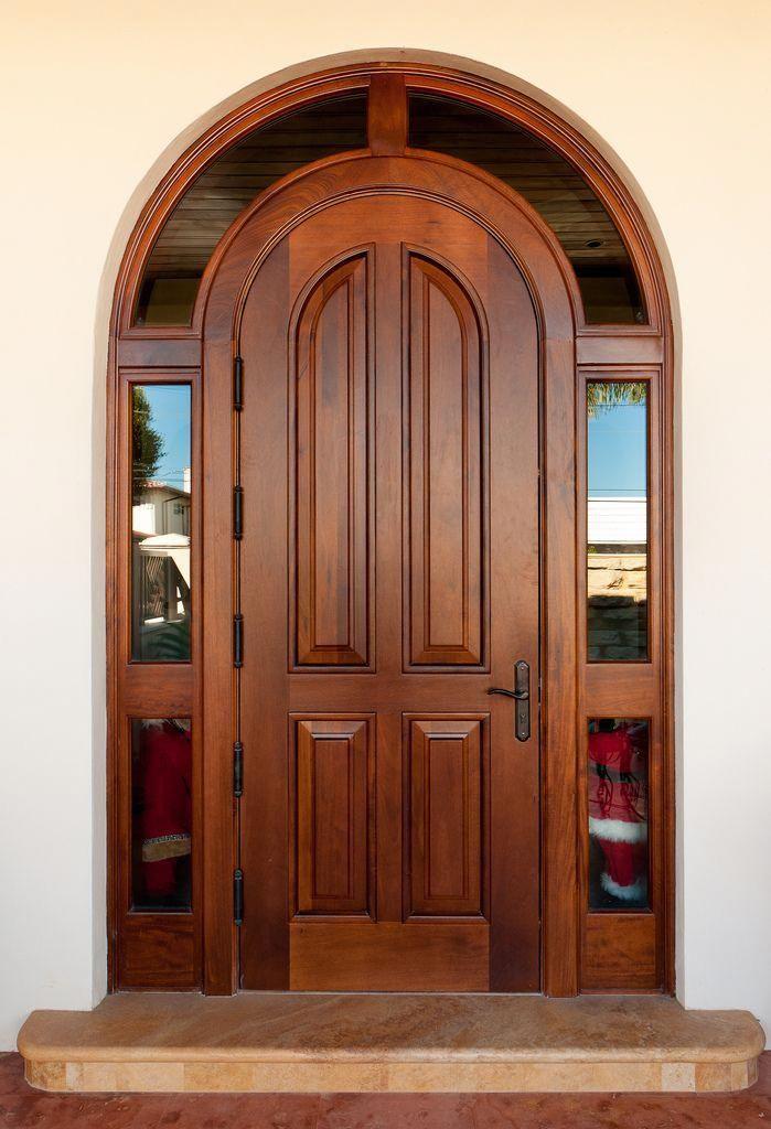 Borano Marbella Solid Mahogany Single Door With Insulated Laminated Glass Wrap Around Wood Doors Entry Doors Custom Wood Doors
