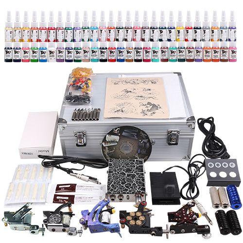 USA Dispatch Professional complete cheap tattoo kits 5 machines [MKD1-1DH(4.5-USO)] - US$89.99 : Dragonhawk tattoo supplies, tattoo kits,tattoo machines for sale global form tattoodiy.com