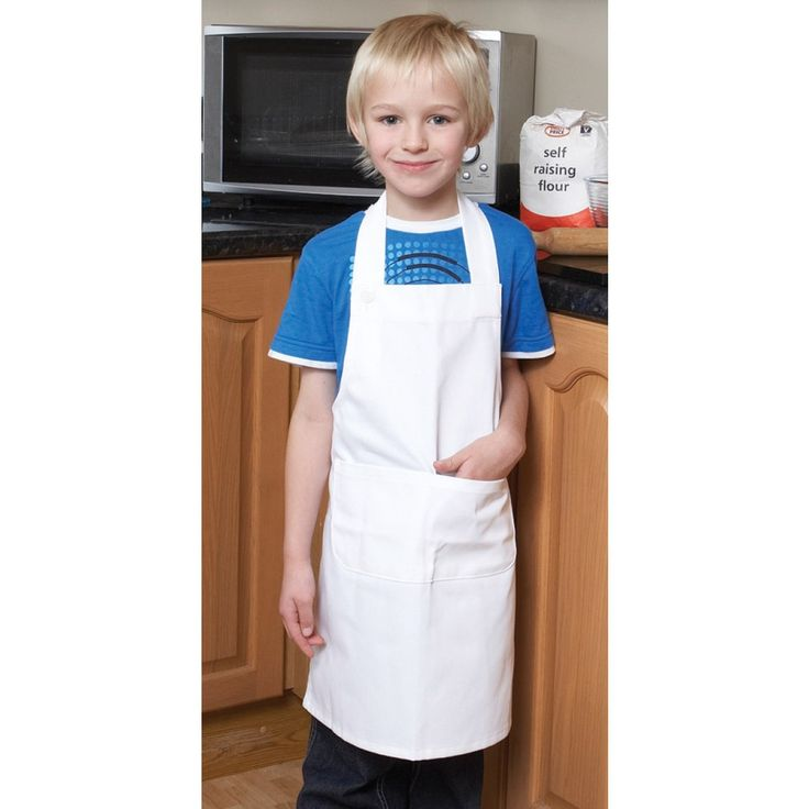 Printed Le Chef Children's Polycotton Bib Apron from Fluid Branding