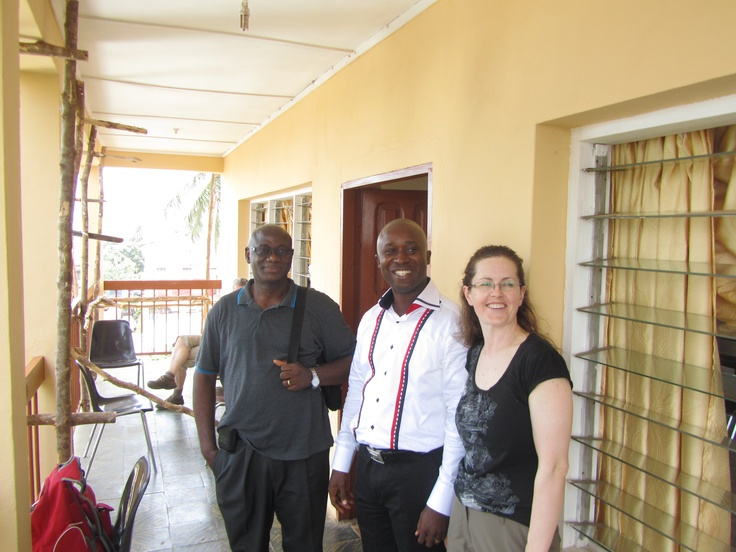 YMCA board member with Sierra Leone locals