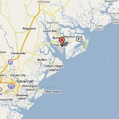 Parris Island On A Map