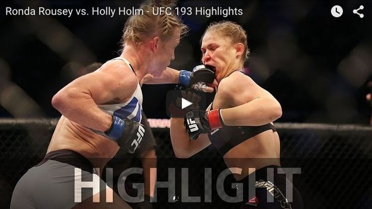 Watch Ronda Rousey vs. Holly Holm full fight video highlights online (YouTube) from last night (Nov. 14, 2015) in UFC 193's main event inside Etihad Stadium in Melbourne, featuring the incredible headkick knockout finish that ended Rousey's reign