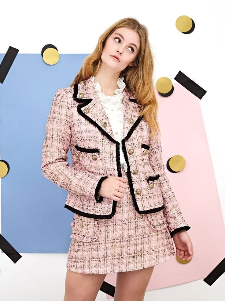 22c5943fbde8 Image result for bright tweed suit womens | senior year forensics ...