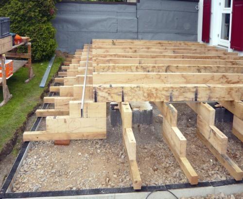 Holzaufbauten Holzterrasse, Terrasse bauen, Terrasse