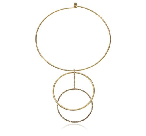 """Kate Spade (USA), geometric gold-tone metal collar necklace. 