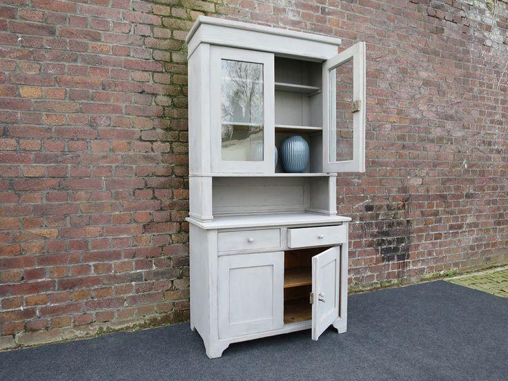 Antiker+Buffetschrank,+blau-grau+von+La+Casa+Rustica+auf+DaWanda.com
