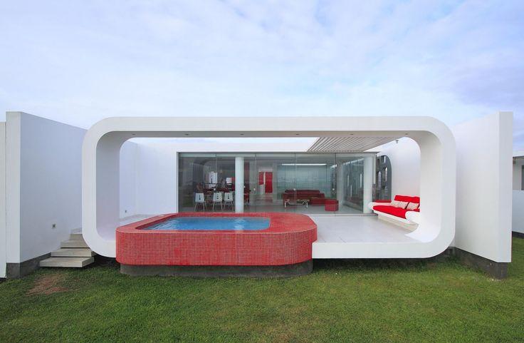 House in Palabritas Beach, Lima, Perù: Good Home-Coming, Decks, Swim Pools, Contemporary Houses, Interiors Design, Home Decor, Palabrita Beaches, Beaches Houses, Architecture Design