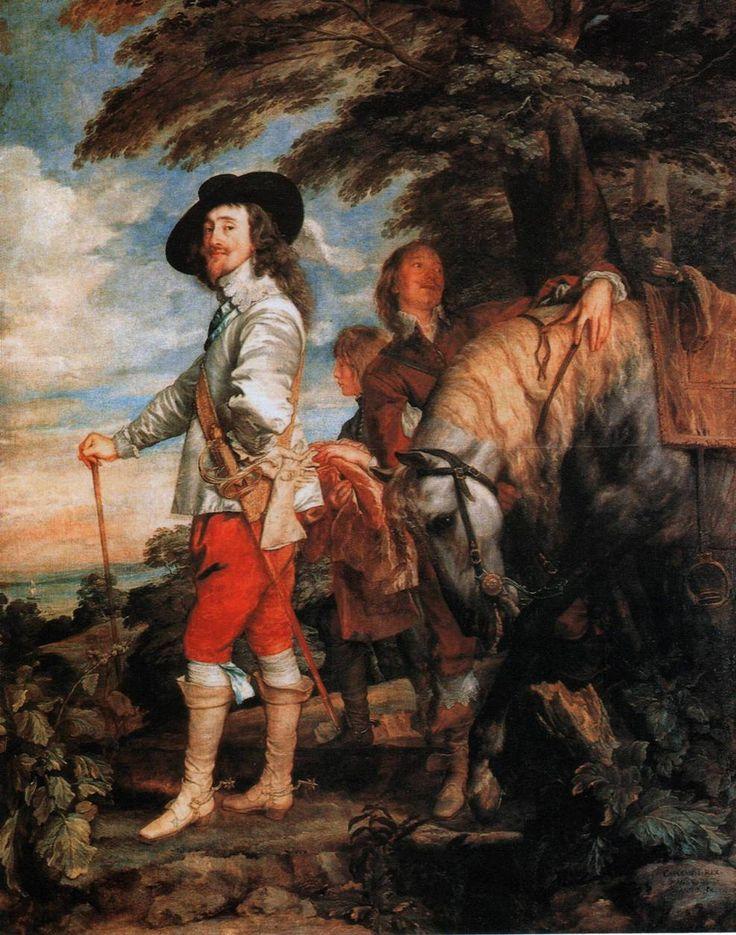 Портрет Карла I на охоте. Антонис ван Дейк