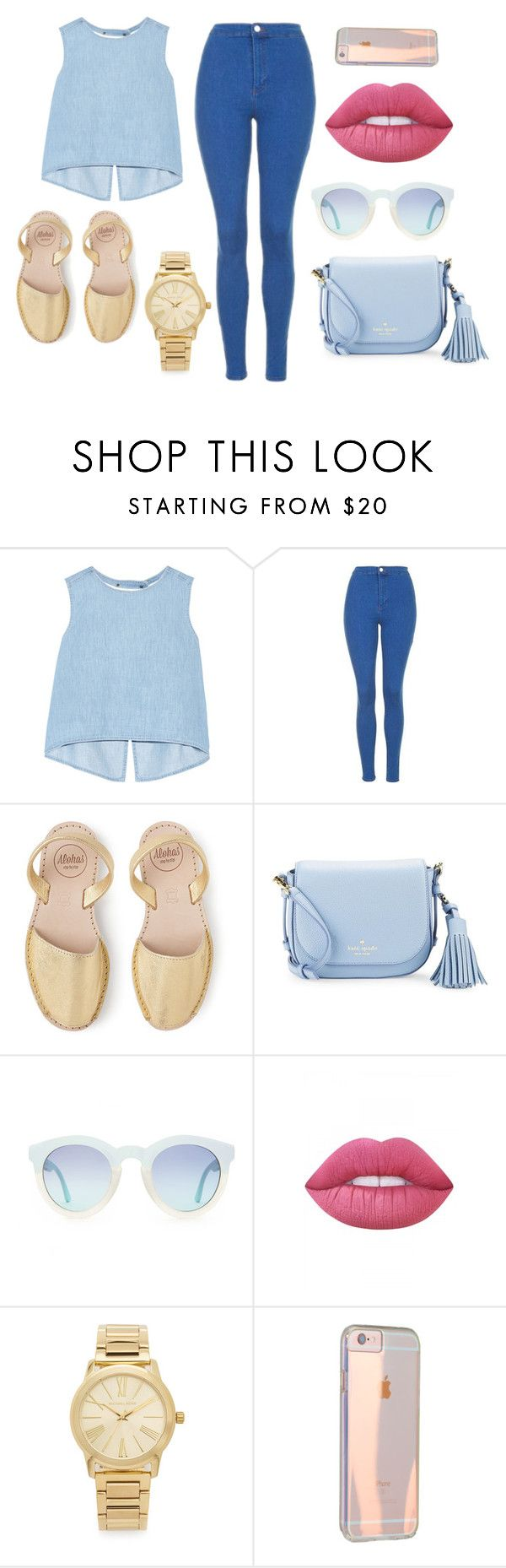 """""""Sin título #13"""" by sarai-almaguer on Polyvore featuring moda, Steve J & Yoni P, Topshop, Kate Spade, Lime Crime y Michael Kors"""