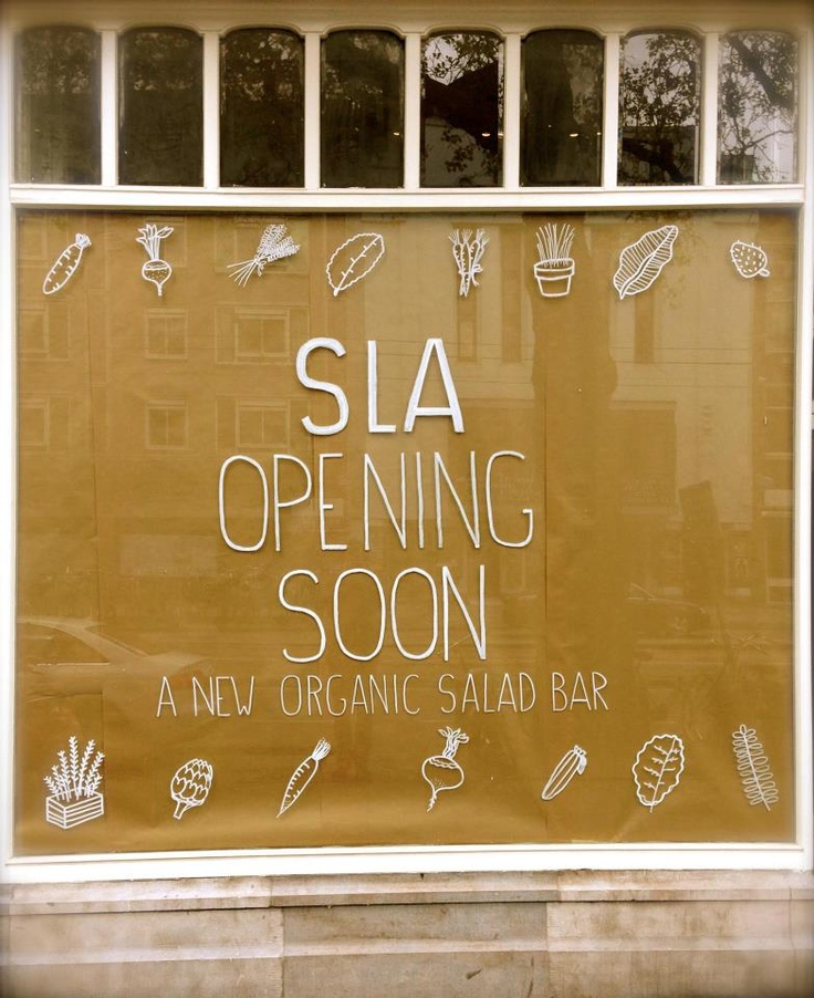 SLA, Ceintuurbaan 149. New organic salad bar. Opening soon!