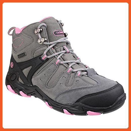 Cotswold Womens/Ladies Coberley Lace Up Contrast Hiking Boots (10 US) (Gray/Pink) - Boots for women (*Amazon Partner-Link)
