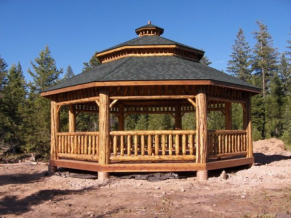 Log Octagon Gazebo Kit Log Gazebos Pinterest Logs