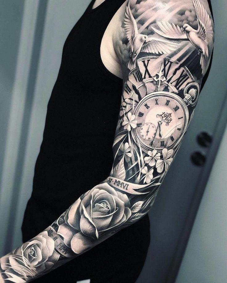 Full Sleeve Tattoo Design, Arm Sleeve Tattoos, Arm Tattoos For Guys, Tattoos For Women, Tattoo Women, Christian Sleeve Tattoo, Tattoo Feminin, Voll Arm-tattoos, Wizard Tattoo