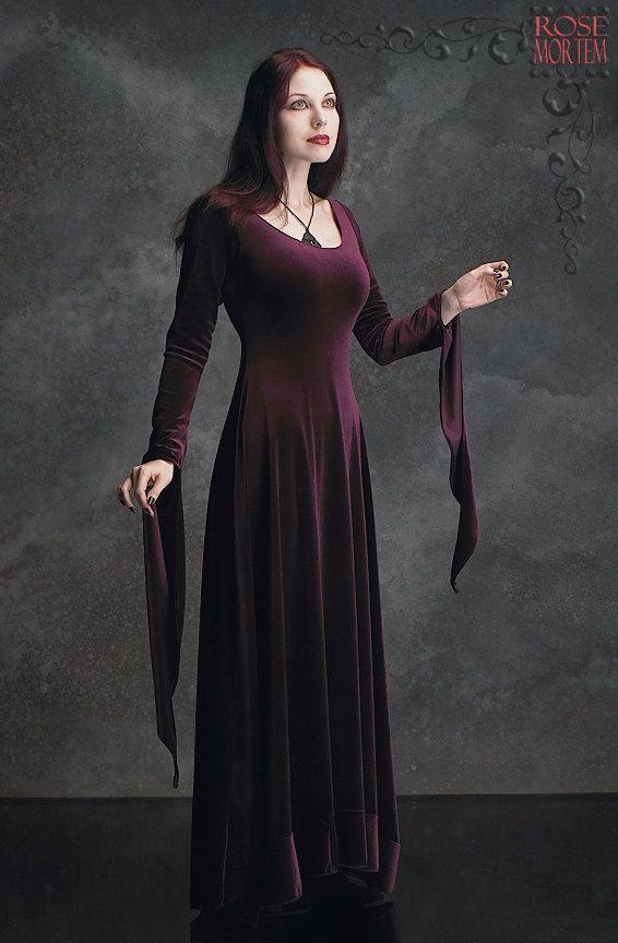 Morgana velours fée robe gothique  vêtements par rosemortem sur Etsy