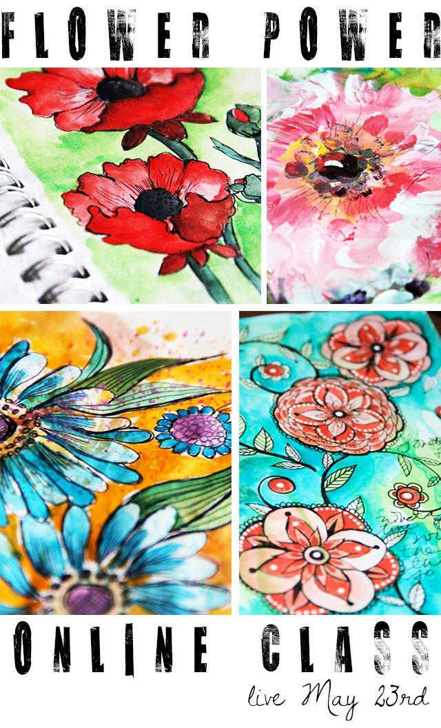 alisaburke: flower power online class giveaway!