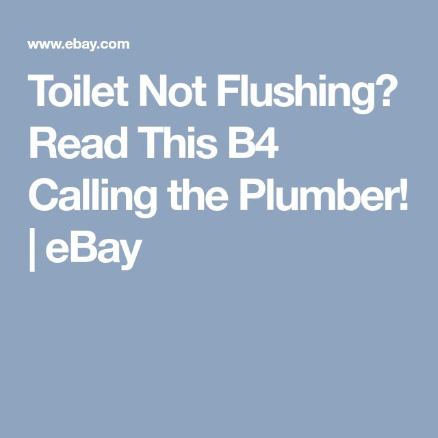 Toilet Not Flushing? Read This B4 Calling the Plumber! | eBay
