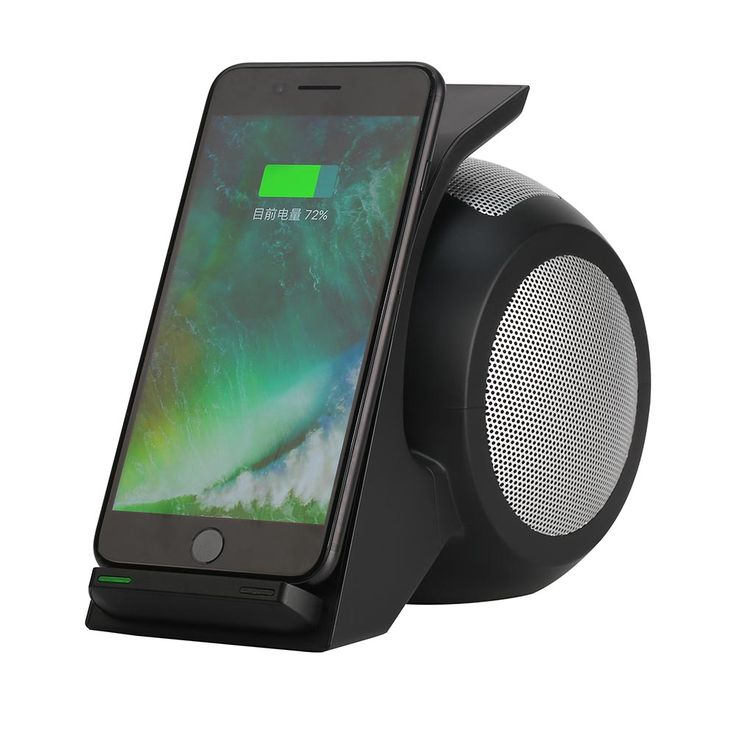 2in1 Wireless Bluetooth Speaker & Portable NFC Smart Connect Wireless Charger Charging for Samsung Galaxy S7 edge S6 edge S5 S4