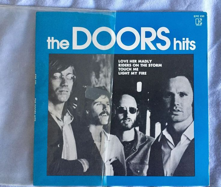 The Doors - The Doors Hits single released in this black and white picture sleeve #single