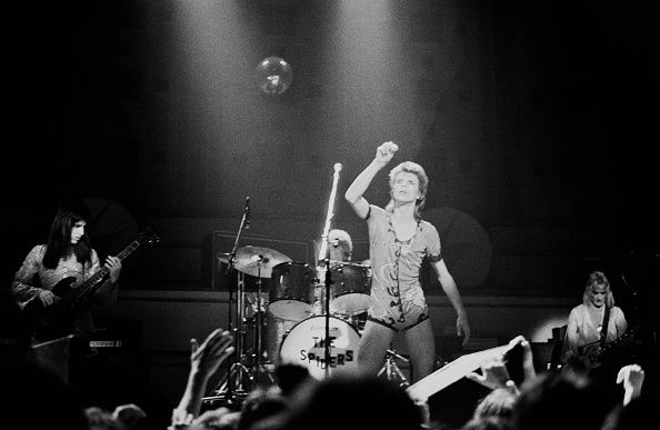 David Bowie On Stage In Manchester