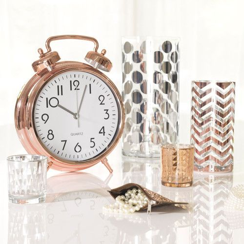 vase en verre zig zag copper maisons du monde copper. Black Bedroom Furniture Sets. Home Design Ideas