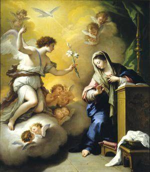 Si necesitas purificar tu vida, acude al gran arcángel Gabriel…: El arcángel Gabriel anuncia a María que será la madre del hijo de Dios.
