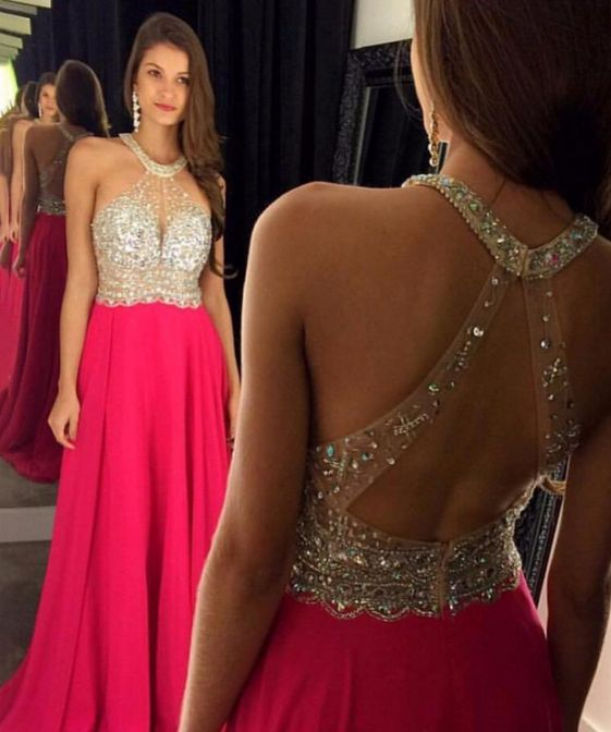 New Arrival Sexy Prom Dress Prom Dresses Beaded Mermaid Evening Dress with Open…