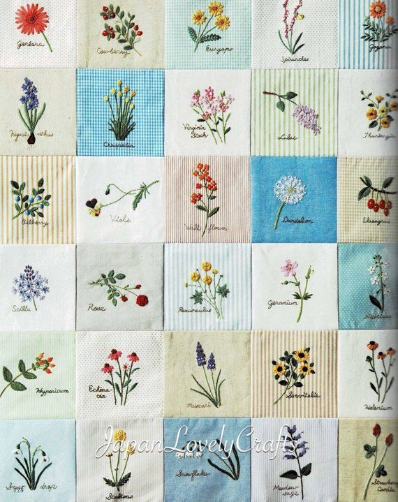 Japanese Hand Embroidery Flower Patterns, Embroidered Floral Decor Wall Art Gift, Easy Embroidery Tutorial, Wild Garden Flowers Pattern