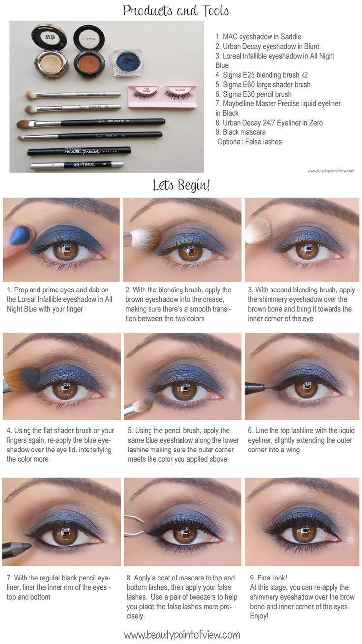 All Night Blue Makeup
