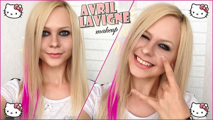 Макияж Аврил Лавин ☺ Avril Lavigne Makeup Hello Kitty 2015 Transformatio...