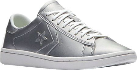 Women's Converse Pro Leather LP Ox Sneaker - Silver/White/White with FREE Shipping & Exchanges. Built specifically for her, the Converse Pro Leather LP Ox Sneaker features a feminine silhouette