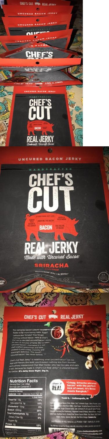 Buffalo Beef and Turkey Jerky 115716: Chef S Cut Handcrafted Sriracha Real Bacon Jerky 2 Oz Bags - Pack Of 8 -> BUY IT NOW ONLY: $45.95 on eBay!
