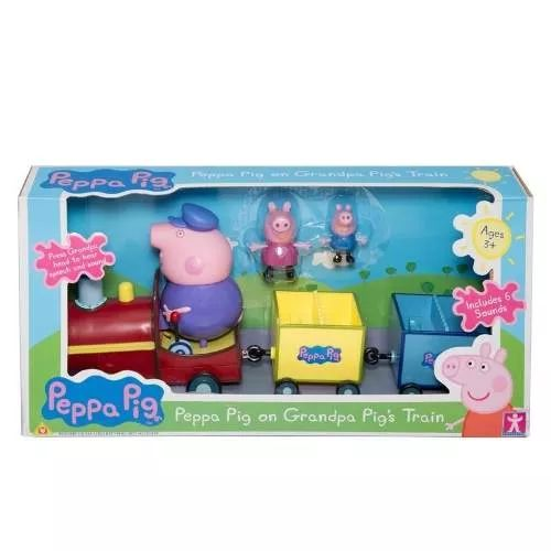 Peppa Pig Trencito Del Abuelo Pig Bunny Toys - $ 899,99