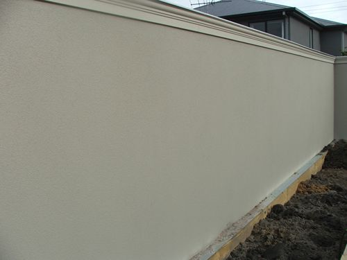 Exterior: Rendered Blue Board Cement Sheet Fence