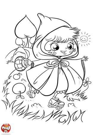1000 images about le petit chaperon rouge on pinterest coins kabouter and red riding hood - Coloriage le petit chaperon rouge ...